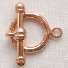 Rose Gold Plated 16mm Toggle Clasp - 1